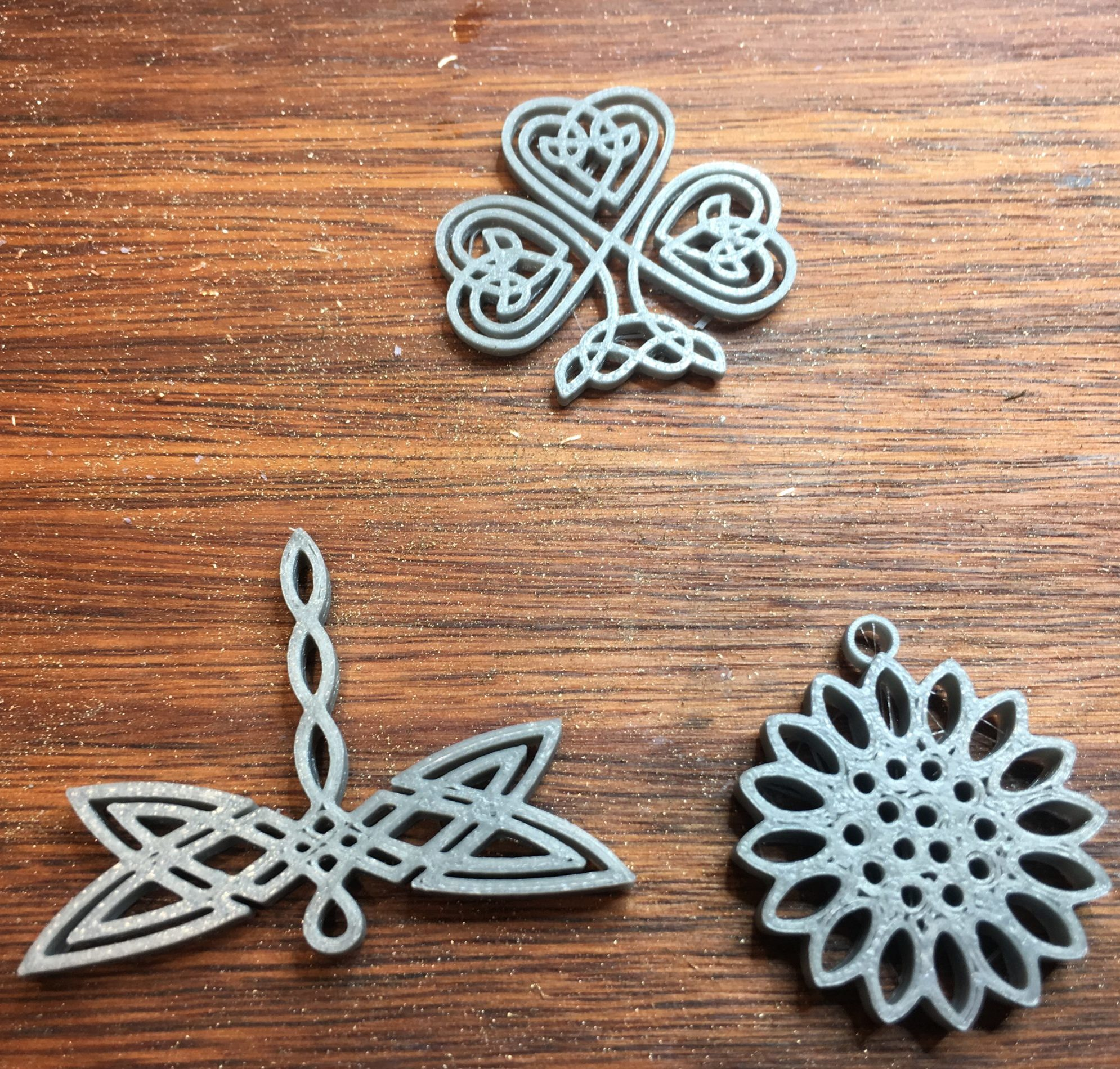 3D printed items for mould making and silver casting