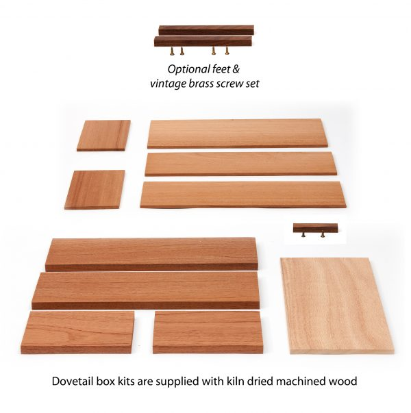 Dovetail Box kit of parts